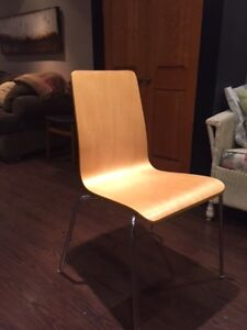 Set of (4) bent plywood chairs