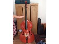 Double bass, hardly played
