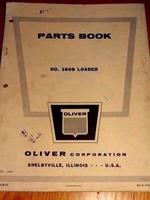 Oliver Parts Book No.1609 Loader