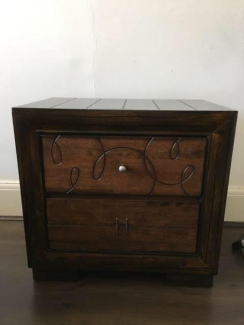 Beautiful Side Table / Storage Unit   Solid Walnut