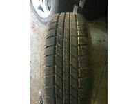 Nissan Navara spare wheel and tyre