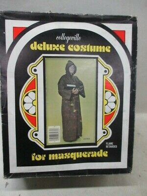 Vintage Collegeville Monk Halloween Costume Size L 42-44 Made With Indian Jute