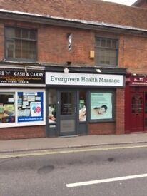 Massage Shop in Winchester Street, Asian Lady Working