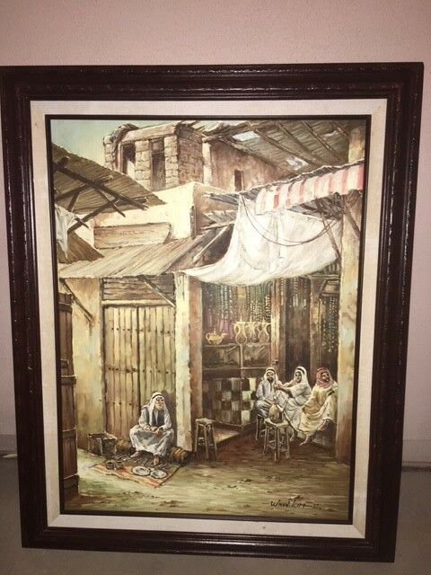 Middle Eastern Artwork- rare and authentic paintings purchased in Saudi Arabia