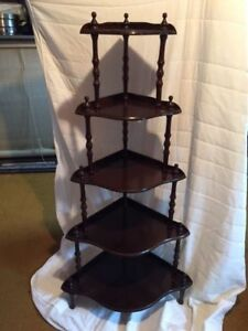 5 tier corner display shelf
