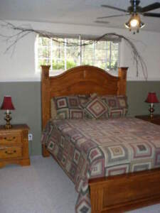 Queen Bed frame and tables