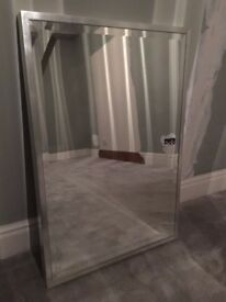 Contemporary Large Silver Wall Mirror