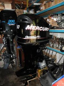 USED MERCURY4 STROKE AND OPTIMAX OUTBOARDS ALL WITH WARRANTY