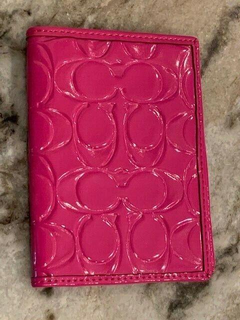 EUC Coach Signature Passport Case HOT PINK - $11.99