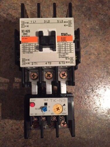 Fuji Electric Contactor SC-N2S w/ TK-N3 Z408 200-230V Coil Used
