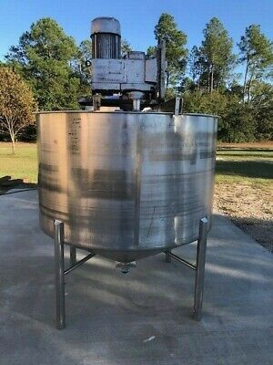 600 Gallon High Shear Mixing 304 Stainless Steel Tank 7.5 Hp 1750 Rpm