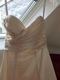 BNWT Size 6 Wedding Dress in champagne