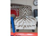 HONEY MARTINA ACCENT ZEBRA CHAIR Cost New £350!!