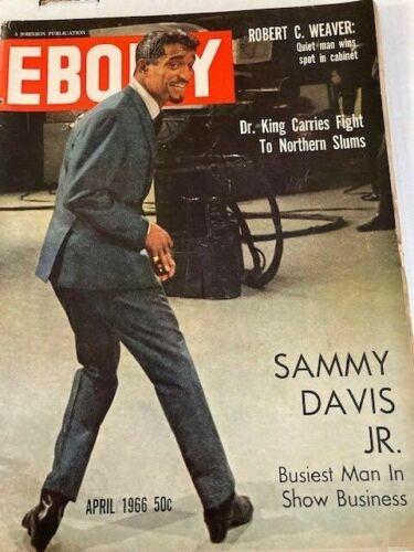 Vintage Ebony Magazine Apr 1966 Sammy Davis Jr.