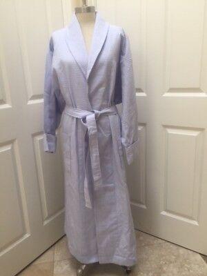 Womens Saks Fifth Avenue 100% Cotton Turkish Waffle weave Luxurious Shaw robes (White Waffle Robe)