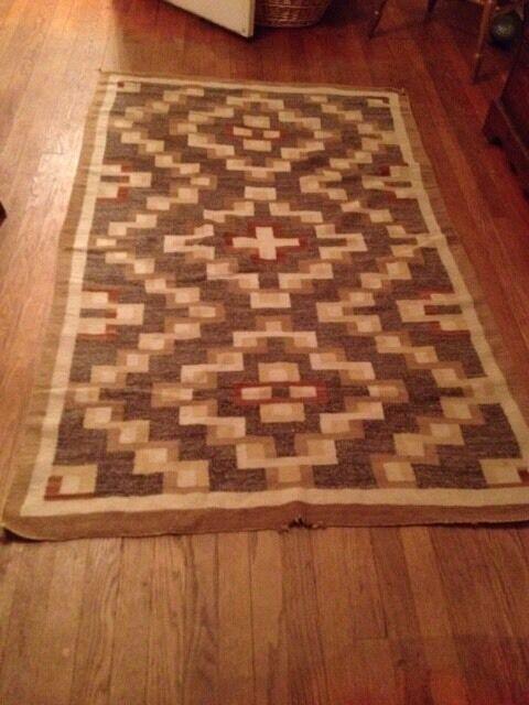 Vintage Native American rugs 1920s Navaho