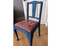 Beautifully upcycled antique chair