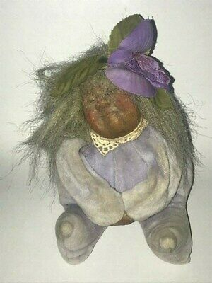 "1988 Gnarlies by Sandy Dale Witch Doll 6"" Halloween Decor Vintage"