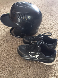 Kids Cleats & Helmet for Sale