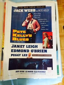 Vintage 50's Theater poster Ella Fitzgerald - Pete Kelly's Blues