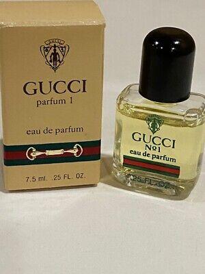 Gucci No 1 Eau de Parfum 7.5ml / .25 oz Vintage RARE mini splash