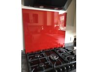 Brand new red Glass Splashback