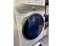 new graded samsung dv90n8289aw/eu 9kg heat pump condenser dryer