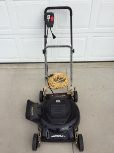 "Jobmate 18"" Electric Lawnmower and extension cord"