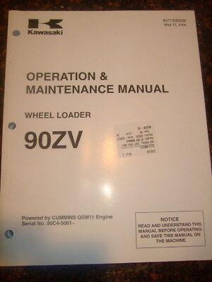 Kawasaki 90zv Wheel Loader Operation Maintenance Manual