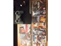 SONY PS3 SLIM CONSOLE with 10 games ,wireless controller , and HDMI cables.
