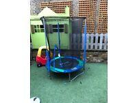 Plum 4.5ft Junior Trampoline and enclosure - Blue