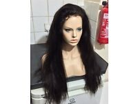 22inch Malaysian Full Lace Wig, 200% Very Heavy Density, stunning, straight-SALE