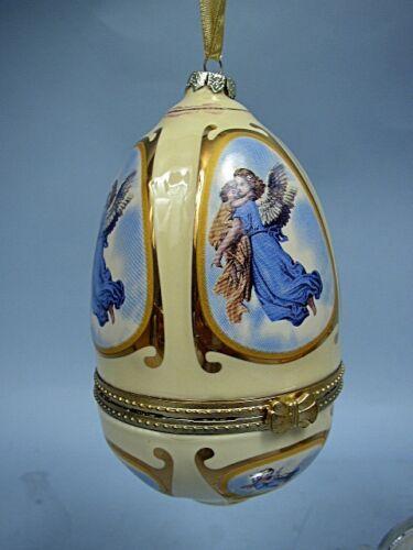 Mr. Christmas Musical Porcelain Egg Ornament In Box