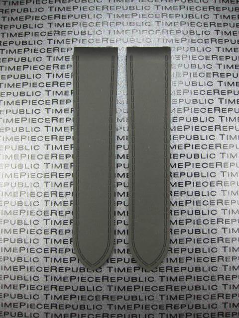23mm déploiement pu caoutchouc plongeur bracelet noir cartier santos 100 grand l