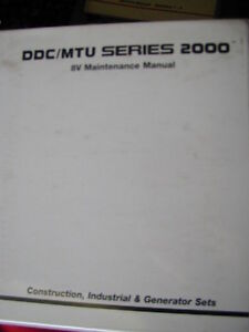 DETROIT DDC/MTU SERIES 2000 8V WORKSHOP SERVICE MANUAL c1997 Dianella Stirling Area Preview