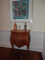 Pair of Marble Top Commodes