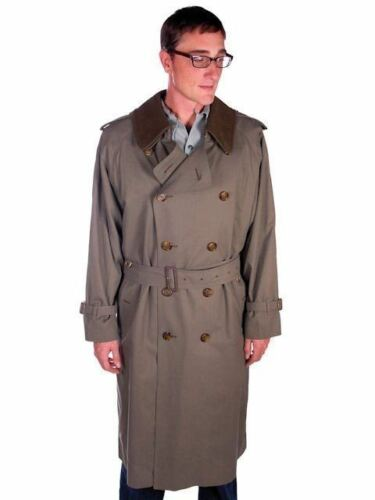 Mens Burberrys Burberry  RARE Trench Coat  Olive G