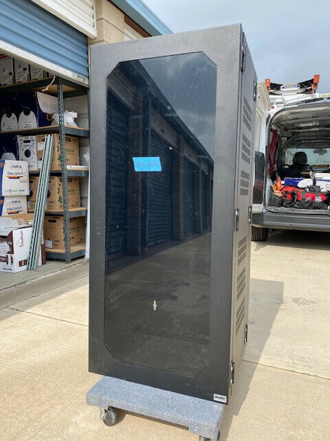 Fully Enclosed APW 27u Server Rack Cabinet w/ Glass Front