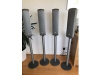 BOWERS AND WILKINS VM1 speakers with stands x4 plus B&W AS1 Subwoofer rrp £1500