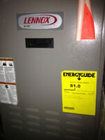 Lennox Furnace and an aboveground oil tank