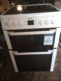 £123,77 Beko ceramic electric cooker+60cm+3 months warranty for £123.77