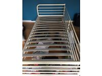 Single bed (white metal framed) in very good condition