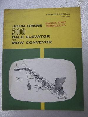 JOHN DEERE 200 BALE ELEVATOR MOW CONVEYOR MANUAL FARM