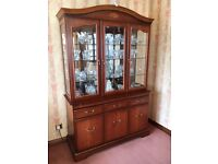 John E. Coyle Three Door Glazed Illuminated Display Cabinet - Excellent Quality