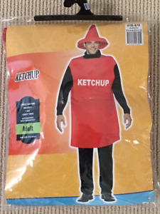 Hallowe'en Costume: Ketchup Bottle, Adult (one size fits most)