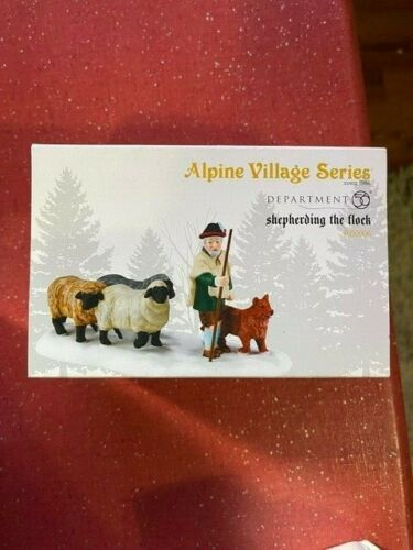 DEPT 56 ALPINE VILLAGE Accessory  SHEPHERDING THE FLOCK NIB