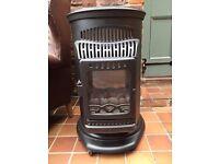 Royal Canterbury Real Flame Wood Burning Stove Effect Calor Gas Potable Heater