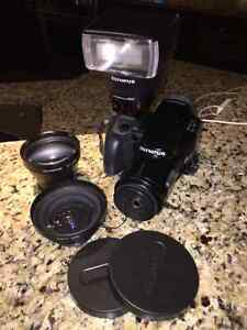 Olympus iS-1 35mm Zoom SLR Bundle