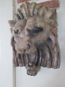 Very Artistic Lion's Head with Unique Colouring.