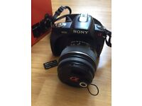 Sony a230 DSLR Camera with accessories